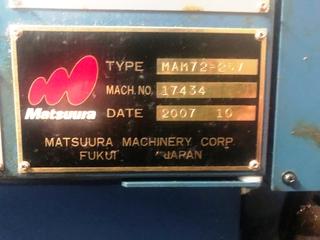 Fréza Matsuura MAM 72 25V, r.v.  2007-4