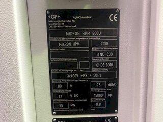 Fréza Mikron HPM 800 U-13